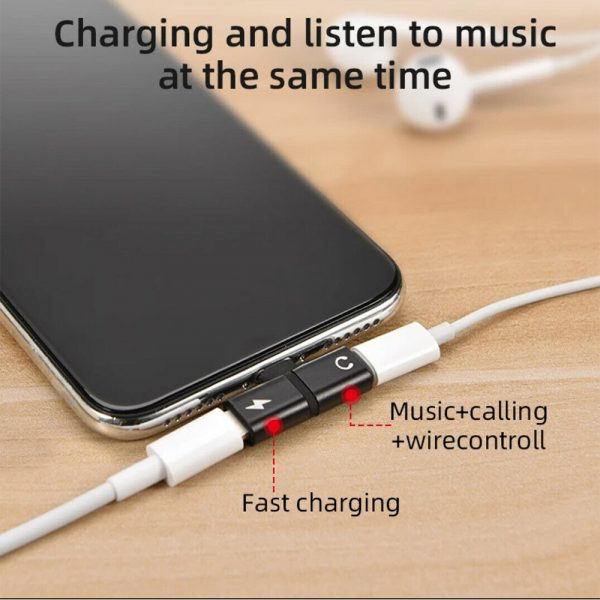 T- Shaped Dual Port Headset and Charger Splitter for Apple iPhone_7