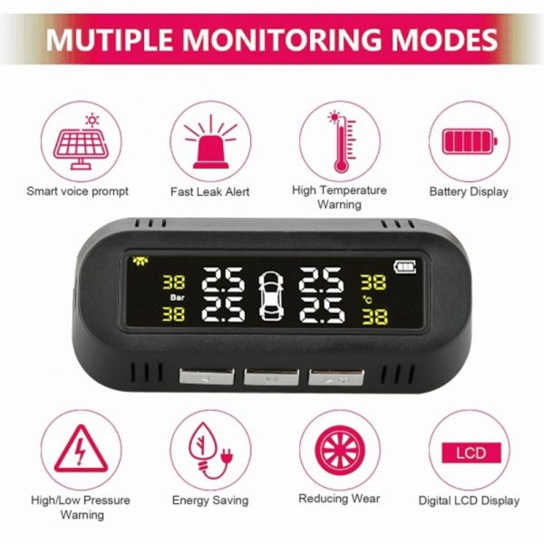 Solar Powered TPMS Monitoring System with Colored Digital Display_4