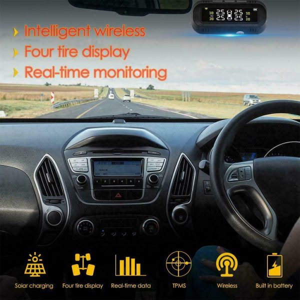 Solar Powered TPMS Monitoring System with Colored Digital Display_7