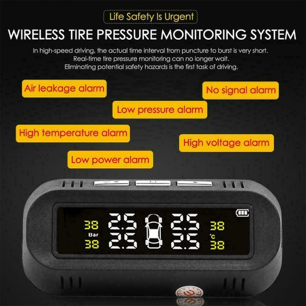 Solar Powered TPMS Monitoring System with Colored Digital Display_8