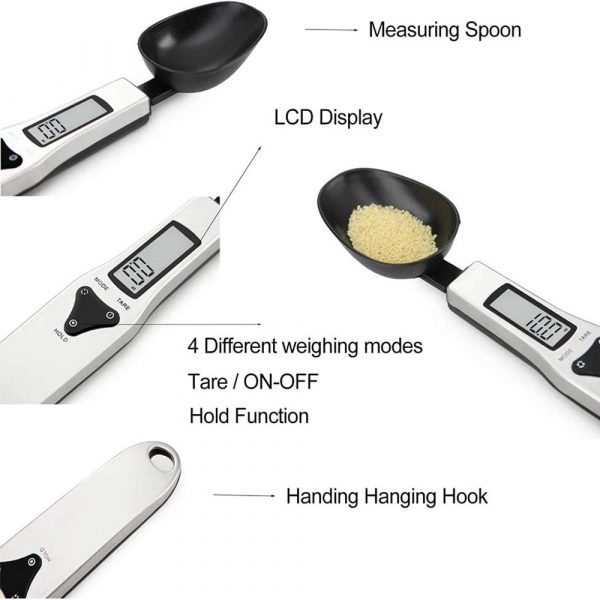 Digital Kitchen Spoon with LCD Display for Dry and Liquid Ingredients_7