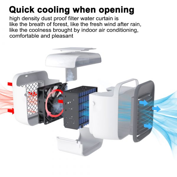 7 Light Color 3 Speed Portable Cordless Personal Air Conditioner_6