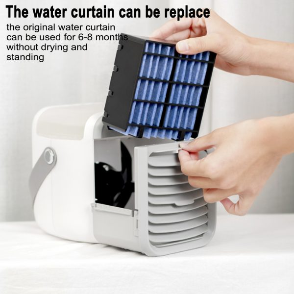 7 Light Color 3 Speed Portable Cordless Personal Air Conditioner_11