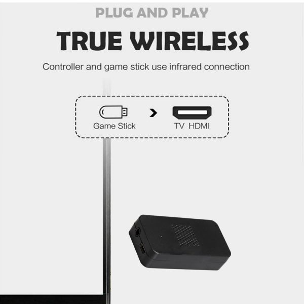 Wireless Handheld TV Gaming Console with Built-in Retro Games_3