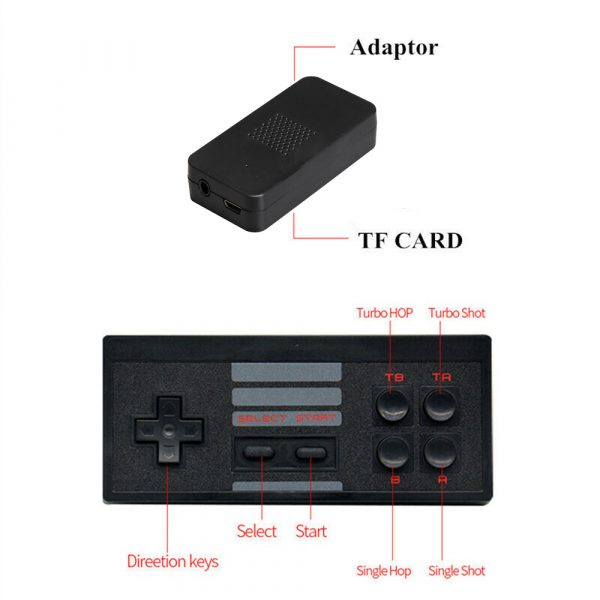 Wireless Handheld TV Gaming Console with Built-in Retro Games_7