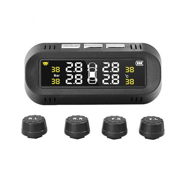 Solar Powered TPMS Monitoring System with Colored Digital Display_0