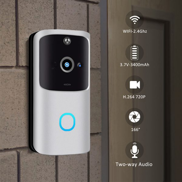 Wi-Fi Enabled Smart Doorbell Motion Detection and 2-Way Audio_4
