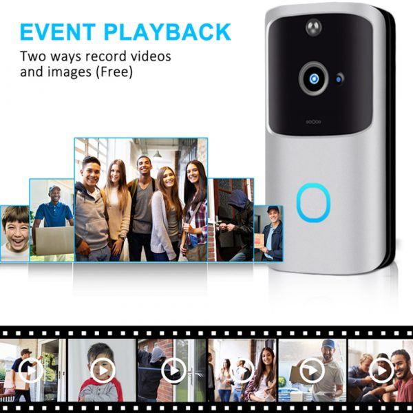 Wi-Fi Enabled Smart Doorbell Motion Detection and 2-Way Audio_6