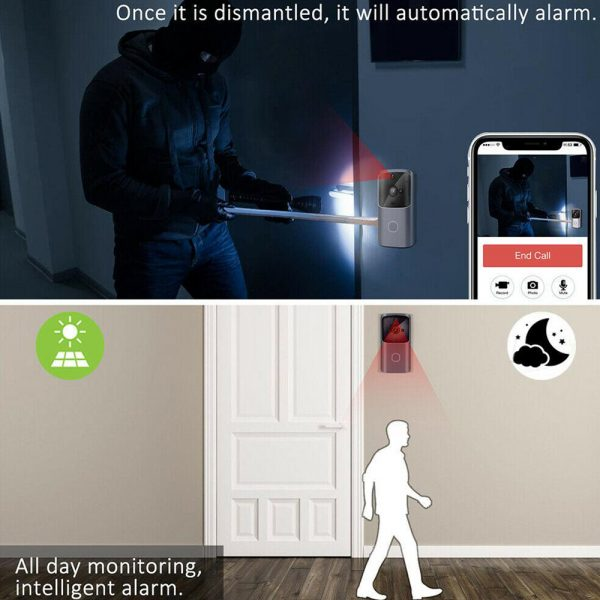 Wi-Fi Enabled Smart Doorbell Motion Detection and 2-Way Audio_8