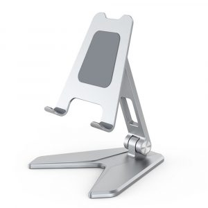 Metal Foldable Tablet Tabletop Vertical Stand with Adjustable Angle