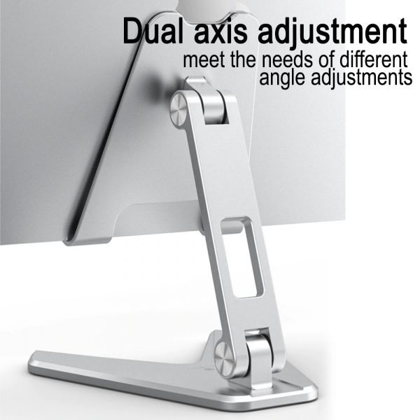 Metal Foldable Tablet Tabletop Vertical Stand with Adjustable Angle_4