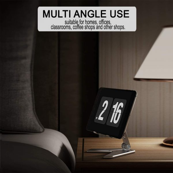 Metal Foldable Tablet Tabletop Vertical Stand with Adjustable Angle_9