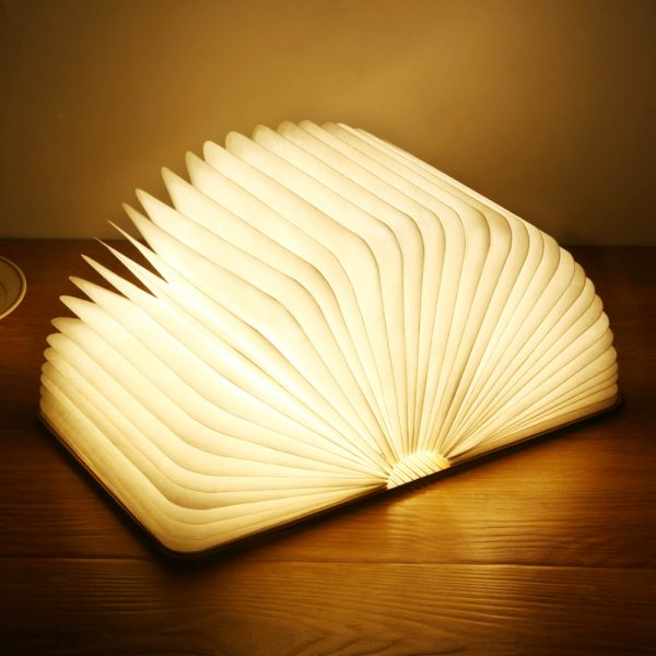 USB Rechargeable 3 Colors 3D Creative Foldable LED Book Night Light_0