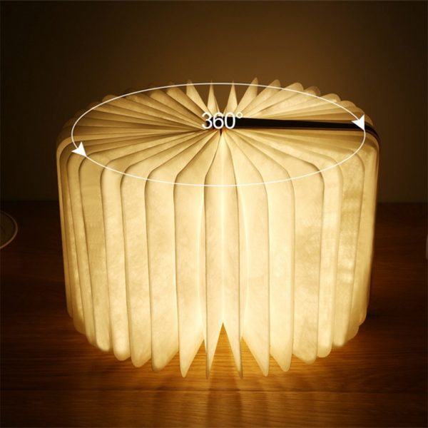 USB Rechargeable 3 Colors 3D Creative Foldable LED Book Night Light_7