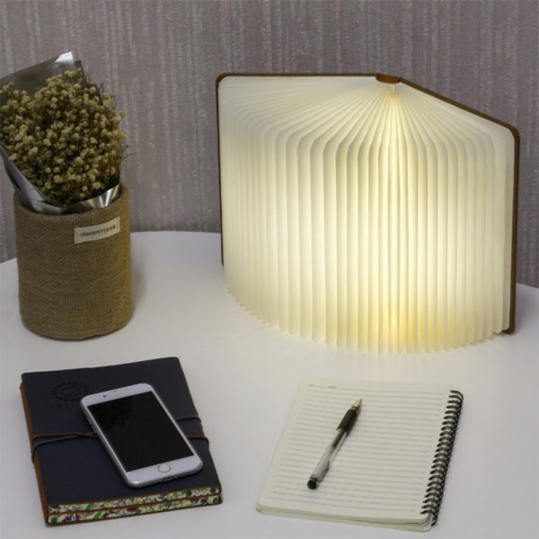 USB Rechargeable 3 Colors 3D Creative Foldable LED Book Night Light_9
