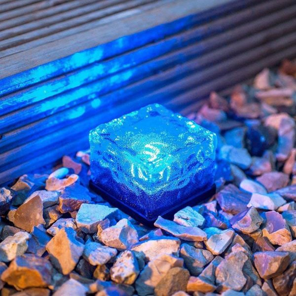 Solar Powered Multi-Color Light Up LED Light Cubes with Switch_5