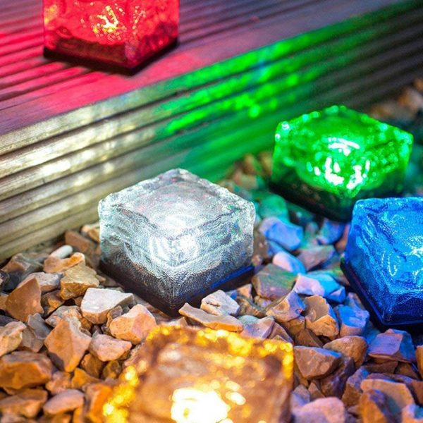 Solar Powered Multi-Color Light Up LED Light Cubes with Switch_0