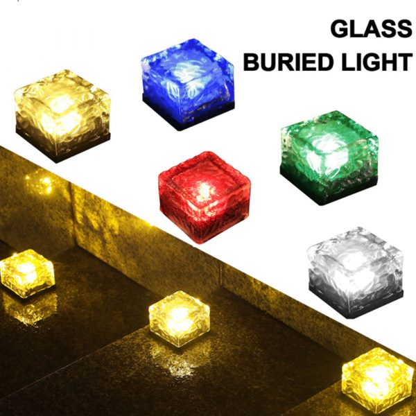 Solar Powered Multi-Color Light Up LED Light Cubes with Switch_12