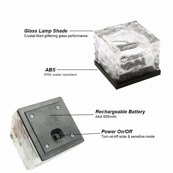 Solar Powered Multi-Color Light Up LED Light Cubes with Switch_16