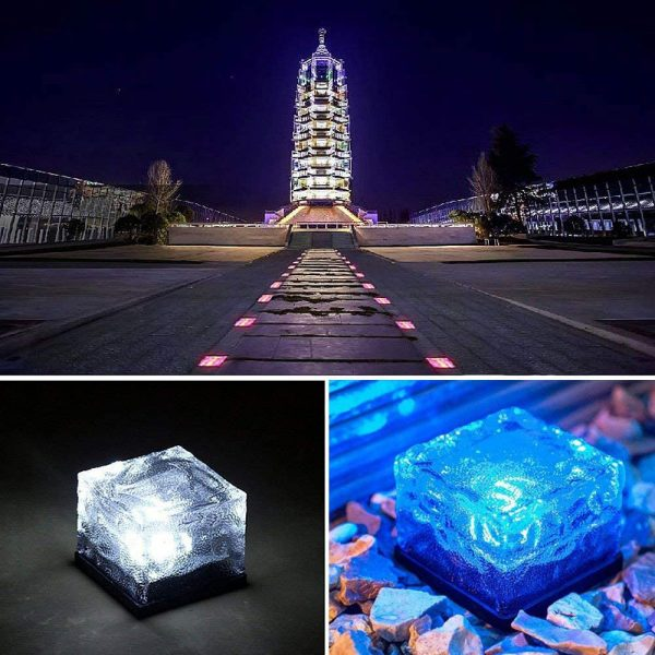Solar Powered Multi-Color Light Up LED Light Cubes with Switch_20