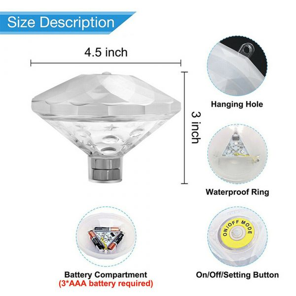 Floating Underwater RGB LED Light for Swimming Pool Bath Tubs_15