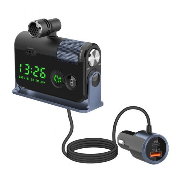QC3.0 Car Charger Mp3 Player Handsfree FM Transmitter_1
