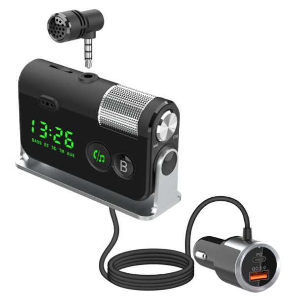 QC3.0 Car Charger Mp3 Player Handsfree FM Transmitter_0