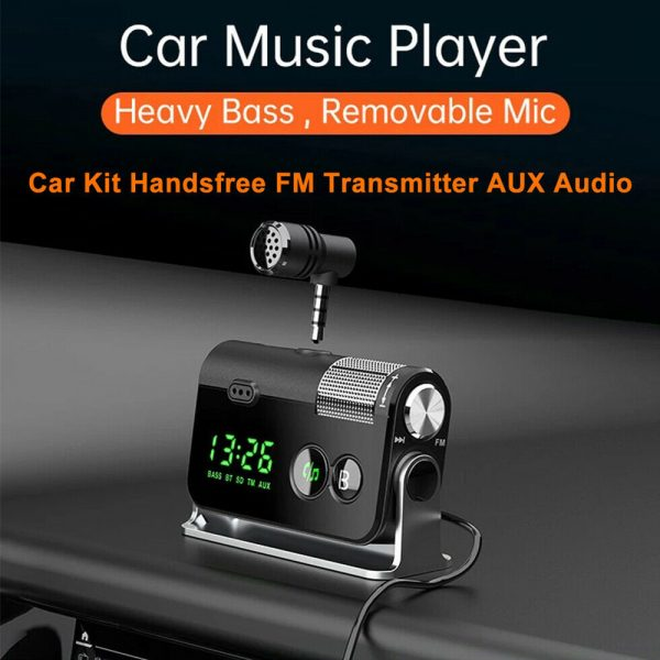 QC3.0 Car Charger Mp3 Player Handsfree FM Transmitter_5