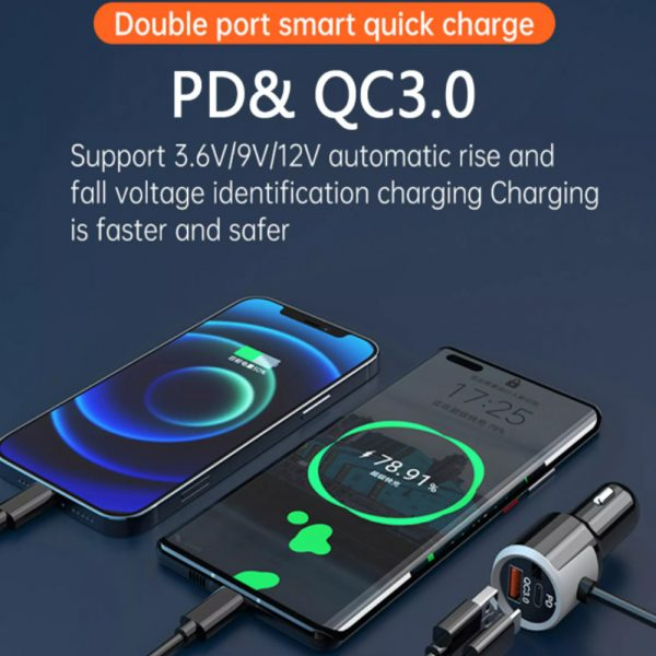 QC3.0 Car Charger Mp3 Player Handsfree FM Transmitter_12