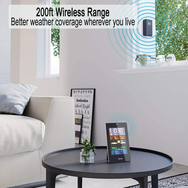 Wireless Indoor and Outdoor Weather Station with Color Screen_3