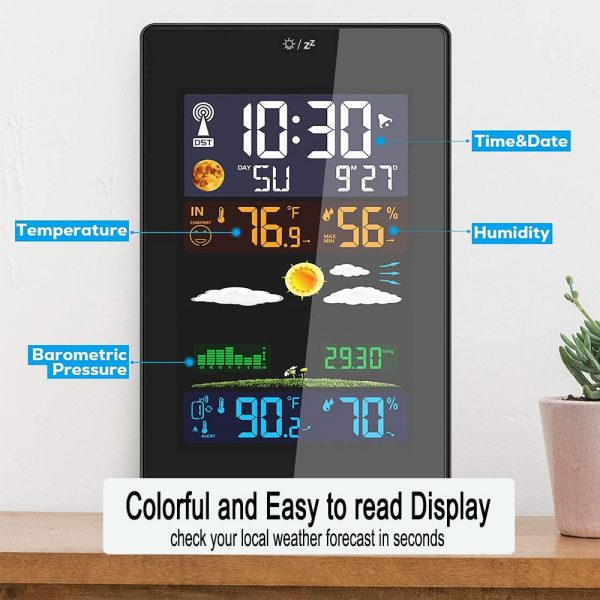 Wireless Indoor and Outdoor Weather Station with Color Screen_4