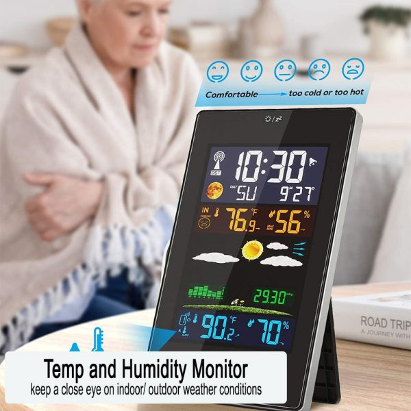 Wireless Indoor and Outdoor Weather Station with Color Screen_5