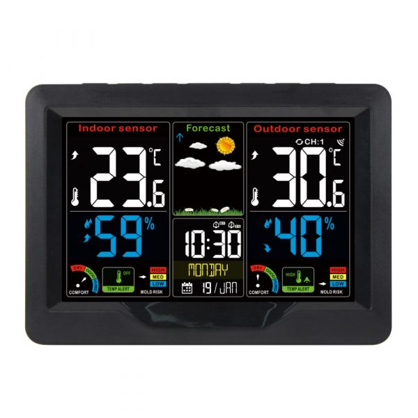 Wireless Thermometer and Humidity Monitor with LCD Color Display_1