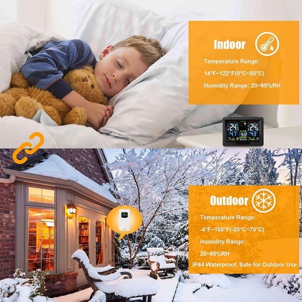 Wireless Thermometer and Humidity Monitor with LCD Color Display_5