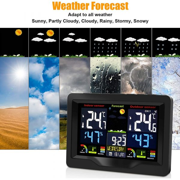 Wireless Thermometer and Humidity Monitor with LCD Color Display_7
