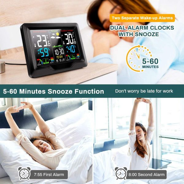 Wireless Thermometer and Humidity Monitor with LCD Color Display_9