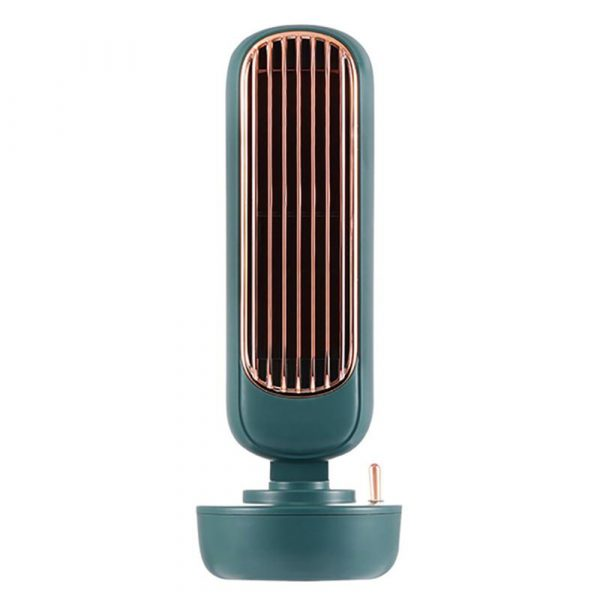 Retro Humidification Silent Wireless USB Rechargeable Tower Fan_0