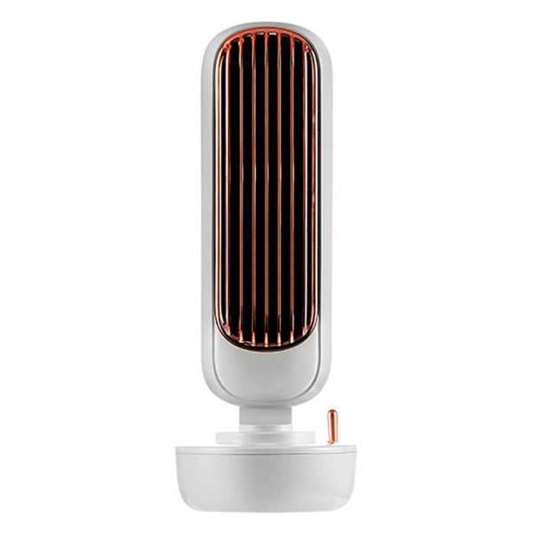 Retro Humidification Silent Wireless USB Rechargeable Tower Fan_2
