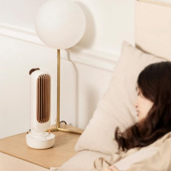 Retro Humidification Silent Wireless USB Rechargeable Tower Fan_4