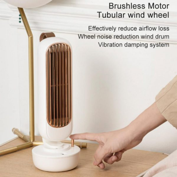 Retro Humidification Silent Wireless USB Rechargeable Tower Fan_13