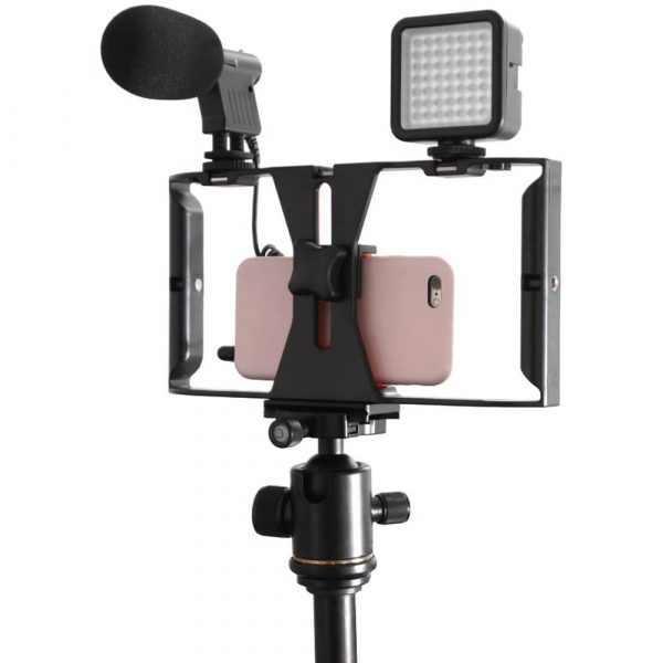 Professional Smartphone Photography Cage Rig Video Stabilizer Grip_0