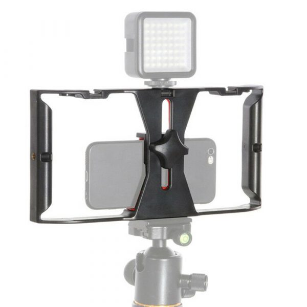 Professional Smartphone Photography Cage Rig Video Stabilizer Grip_2