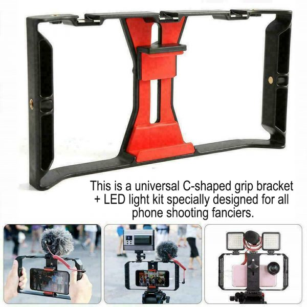 Professional Smartphone Photography Cage Rig Video Stabilizer Grip_5