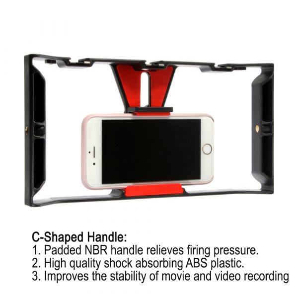 Professional Smartphone Photography Cage Rig Video Stabilizer Grip_6
