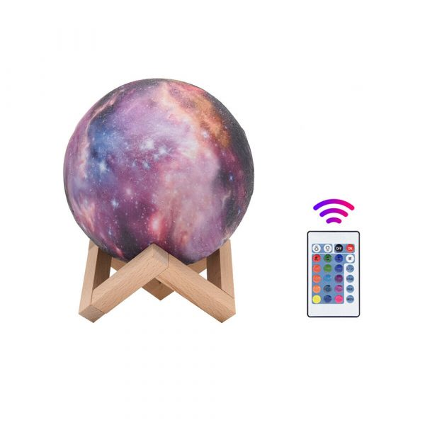 Moon Light Starry Sky Night Lamp for Children's Bedroom with Remote_2