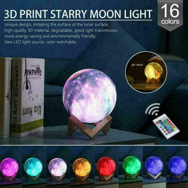 Moon Light Starry Sky Night Lamp for Children's Bedroom with Remote_6