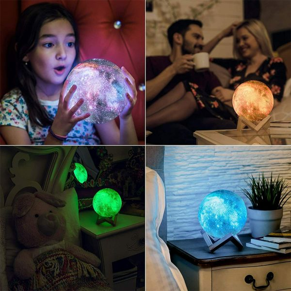 Moon Light Starry Sky Night Lamp for Children's Bedroom with Remote_9