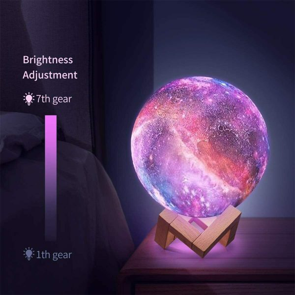 Moon Light Starry Sky Night Lamp for Children's Bedroom with Remote_10