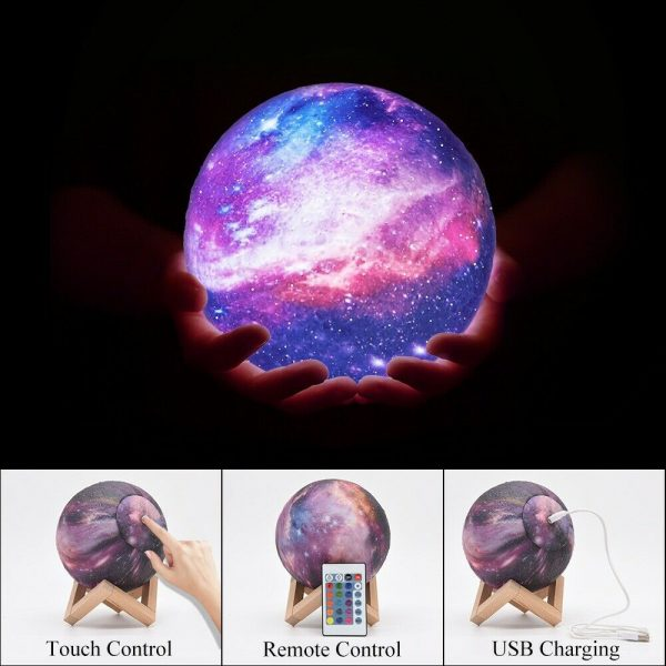Moon Light Starry Sky Night Lamp for Children's Bedroom with Remote_11