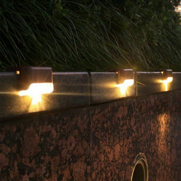 LED Light Solar Powered Staircase Step Light for Outdoor Use_2